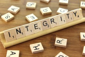 Is the Finance department the one with the most Integrity in organisations?